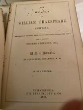 The Complete Works Of William Shakespeare 1866