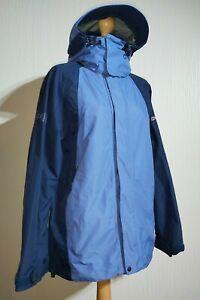 Berghaus Waterproof Aquafoil Pro 2 with Hood Jacket Ladies UK 12 Blue Navy Blue