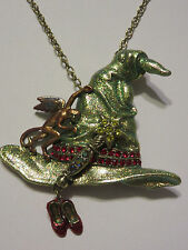 KIRKS FOLLY WIZARD OF OZ WITCH HAT PIN/NECKLACE NWOT