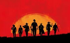 Red Dead Redemption Poster or Canvas Picture Art Movie Car Game Film A0-A4