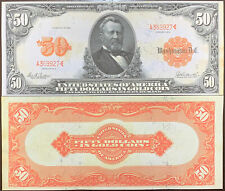 Reproduction 1913 $50 Bill Gold Certificate Grant US Currency Copy