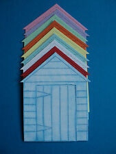 8 Beach Huts die cut shapes for toppers mixed colours