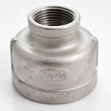 "Nipple 1-1/2"" x 3/4"" Female Stainless Steel 304 Threaded Reducer Pipe Fitting"