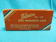 Kilgore No. 108 Dics Mammoth Cap Empty Box Mint Condition