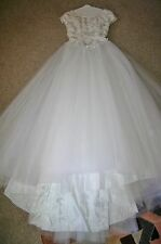 r- WEDDING GOWN SZ 6 GORGEOUS PRINCESS DRESS SEE MEASUREMENTS USED 1X