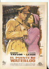 PICTURE POST CARD OF A OLD MOVIE POSTER  WATERLOO BRIDGE STARRING TAYLOR & LEIGH