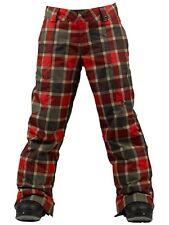 Burton Boys Cyclops Snowboard Pants (M) Keef Revolt Plaid