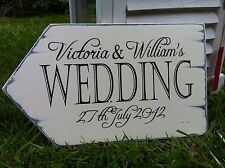 personalised shabby wedding sign chic