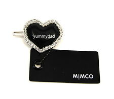 MIMCO FACET HEART CLIP IN JET BLACK BNWT RRP$29.95