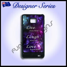 Designer Samsung Galaxy S2 case hard cover Live Laugh Love Purple Galaxy 50