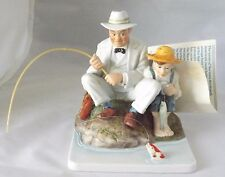 Norman Rockwell Fishing Figurine Catching the Big One Dave Grossman Le 636/7500