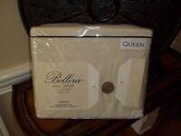 NIP Bellora Milano Corvina Taupe Black 300TC Queen Sheet Set