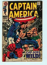 Captain America #106 6.5 FN+ Jack Kirby Avengers Silver Age Marvel Comic Book