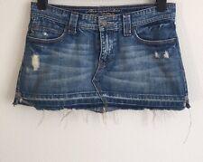 ⭐ ⭐ Abercrombie & Fitch Azul Jean Denim Mini Falda con aspecto envejecido de corte estilo Reino Unido 10