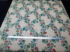 Vintage 100%  Linen Victorian Country Floral