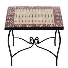 marokkanischer MOSAIKTISCH 60x60cm Couchtisch Orient Mosaik Tisch MAROKKO Sumil