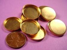 12 brass round high wall bezels 20mm cups