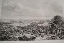BATAILLE DE FLEURUS 1794  GRAVURE 1838 VERSAILLES R1361