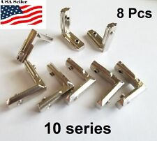 8 Pcs Aluminum T-slot profile 90L deg inside corner connector 10 series