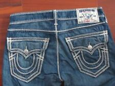 Mens TRUE RELIGION Mega T Straight leg rear flap pocket jeans 32 x 34 EXCLNT