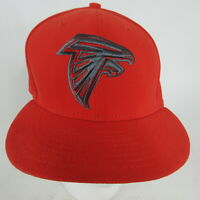 """Atlanta Falcons NFL New Era 59FIFTY Fitted Cap Hat Size 7-5/8"""" Red Gray"""