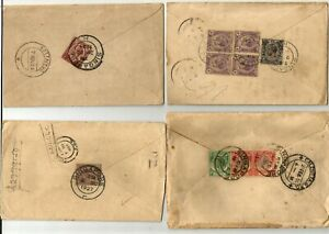 Singapore 4 covers, 1924-36, King GV, one registered and one air mail, with vari