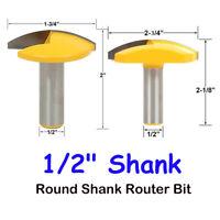 "1/2""Schaft 1-3/4"",2-3/4""Crown Concave Bowl Molding Runder Fräser Neu"