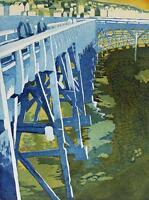 MIRANDA HALSBY RBA Rare Signed Aquatint Etching FECAMP FRANCE 6/50