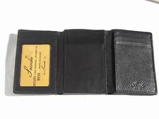 Sacoche 2016 Black Leather RFID Trifold Wallet