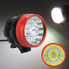 40000LM 14x XM-L T6 Frente Cabeza LED Bicicleta Linterna Bici Antorcha 6x18650