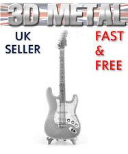 Lead Electric Guitar 3D Metal Puzzle Miniature Model Kit Rock Band Instrument