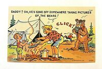 """Vintage 1930-45 Comic """"DADDY? OH, He's Gone Off Somewhere... !"""" Linen PC 1213"""