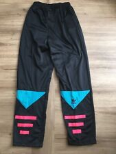 Vintage 1980s Adidas Trefoil Tracksuit Bottoms Pant Mens Small Black Firebird OG