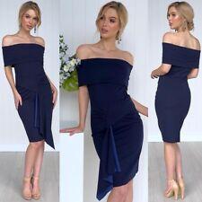 Au Off The Shoulder Dress Size 10 Navy Blue