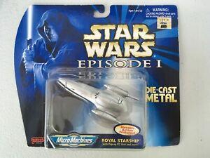 STAR WARS EPISODE 1: ROYAL STARSHIP MICRO MACHINES DIECAST 1998 NIP