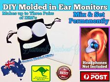 DIY In Ear Monitors - IEM's Custom Molded Plugs Moulded Earplugs For Headphones