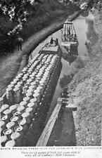 Metal Sign Cadburys Milk Chocolate Barge Bringing Fresh Milk 1920S A3 16x12 Alu