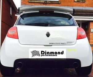 REAR badge COVER for Renault CLIO 3 FACELIFT 2009-2012 ( inc SPORT) GLOSS BLACK