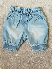 Next Girls' Denim Trousers & Shorts (0-24 Months)