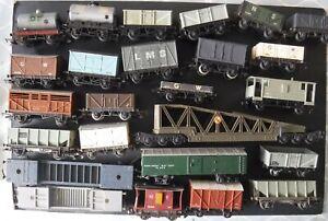 Railway Trucks OO Gauge Job Lot of Used and Tatty Wagons & Trucks