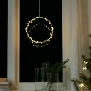"IKEA STRALA LED Pendant Lamp Ring Shaped Battery Operated  Flash 11"" STRÅLA New"