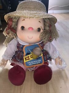 RARE Vintage 1980 J Shin Ice Cream Doll-Girl w/Complete Outfit-Sleep Eyes-Hat