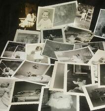 VINTAGE Pic 1920's 1960's Orginal Family CHILDREN BABY PHOTOGRAPHS B&W snapshots