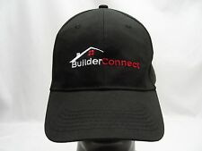 BUILDER CONNECT - BLACK - ONE SIZE FLEX FIT BALL CAP HAT!