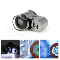 50X Microscope Magnifier Loupe UV LED Light Detector for Currency,Jade,Jewelry