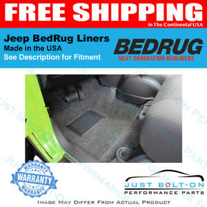 BedRug FITS 1997-2006 Jeep TJ/LJ Front 3Pc Floor Kit w/Center Console BRTJ97F