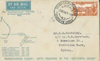 AFC133) Southern Cross Trans-Tasman Airmail 29 March 1934