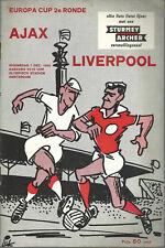 Ajax V Liverpool F.c 1966/67 Copa Europea-Programa Nacional