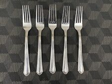 New listing Lenox Archway Dinner Forks 18/10 Stainless - 8.5 Inches Set of 5 Excellent