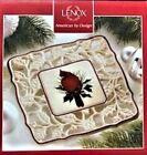 Lenox Winter Greetings Pierced Trivet Cardinal Bird Red Ivory Green New In Box